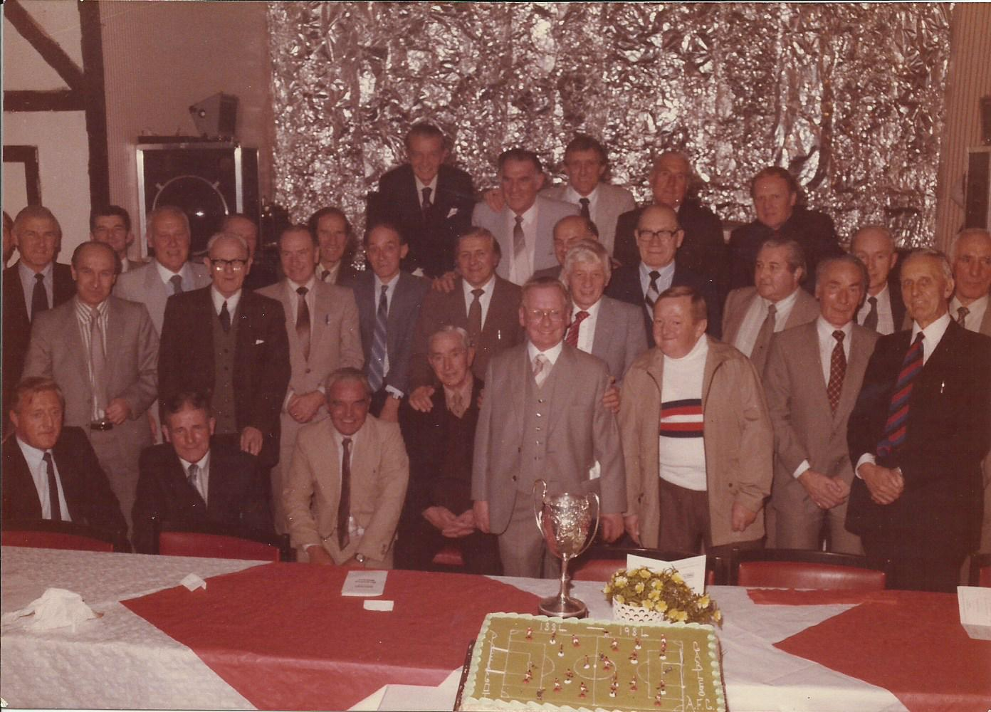 Former Cables players at the club's Centenary Dinner in 1984