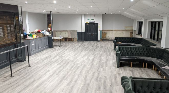 Function room refurb making great progress